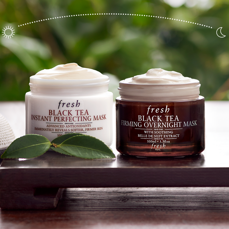 how to use black tea firming overnight mask
