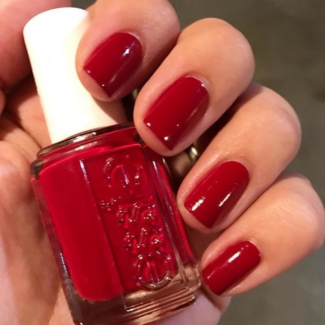Deep Red Nail Polish Essie | Hession Hairdressing