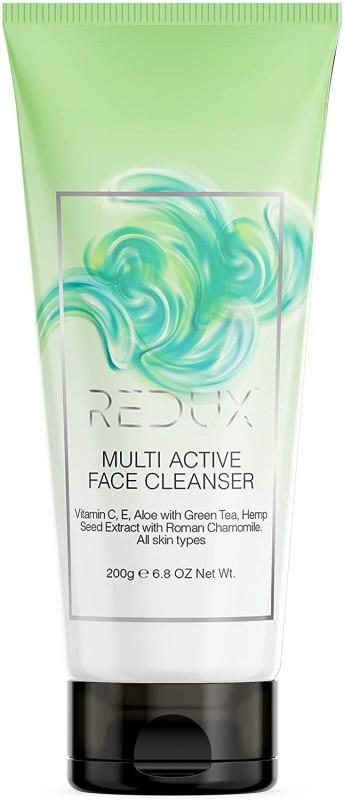 Redux Face Cleanser With Vitamin C E Aloe Green Tea Hemp