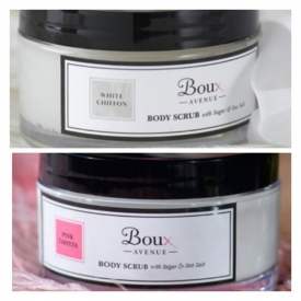 Boux Avenue - White Chiffon /or Pink Taffeta body scrub 175ml