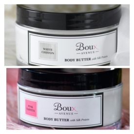 Boux Avenue Pink taffeta /or White Chiffon body butter 175ml