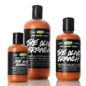 Lush olive branch shower gel
