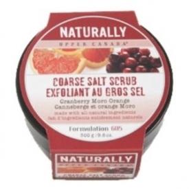 Upper Canada Naturally Cranberry Moro Orange Coarse Salt Scrub