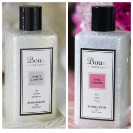 Boux Avenue Pink taffeta/ or White Chiffon bubble bath