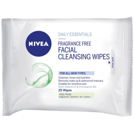 Nivea Visage Daily Essentials Fragrance Free Facial Cleansing Wipes