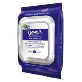 Yes To Blueberries Age Refresh Brightening Facial Towelettes x 30