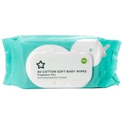 Superdrug Cotton Soft Baby Wipes Fragrance Free