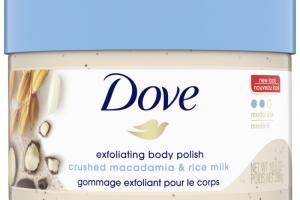 Dove Exfoliating Body Scrub Crushed Macadamia and Rice Milk Scent