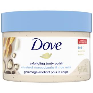 Dove Exfoliating Body Scrub Crushed Macadamia and Rice Milk Scent