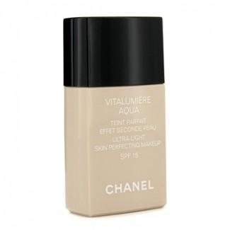 Chanel Vitalumière Aqua Ultra-light Skin Perfecting Makeup Instant Natural Radiance SPF 15