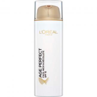 L'Oréal Paris Age Perfect Re-hydrating Lotion Face, Neck &  Décolleté SPF15