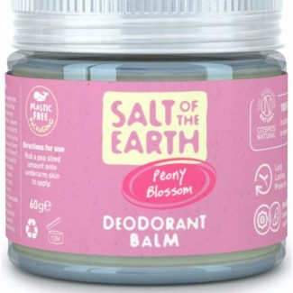 Natural Deodorant Balm by Salt of the Earth, Peony Blossom