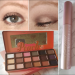 Makeup look and sweet peach palette